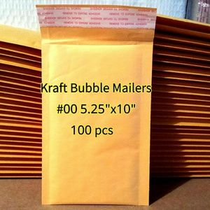 "100 NEW bags 5.25""x10"" Kraft Bubble Mailers"